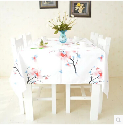 Free Shipping Vintage Printed Cotton Chinese Tablecloths Table Overlays for Wedding 10 Sizes of Square Tablecloths Picnic TC0016(China (Mainland))