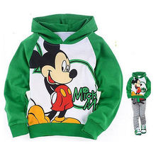2015 Children Hoodies Cartoon Minnie Thin Sweatshirt Boys Girls Winter Autumn Coat Kids Long Sleeve Casual Outwear Baby Clothing(China (Mainland))