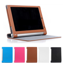 Ultra-thin design matte Leather Case Smart Cover case For Lenovo Yoga 10.1 HD+ B8080 B8080-f B8080-HV  Tablet +Free Shipping