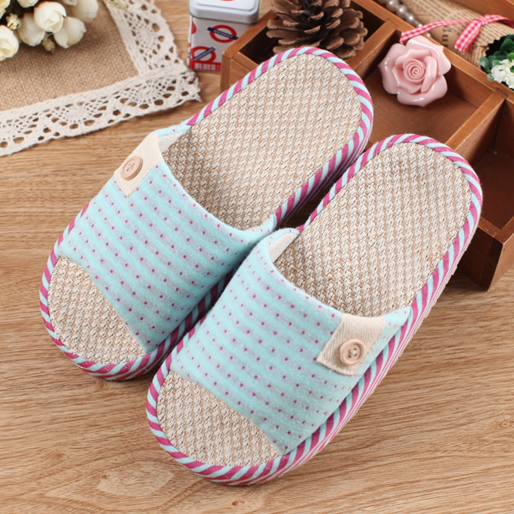 2015 Time-limited New Shoes Tenis Feminino Slippers South Korean Couples Indoor Home Thick Soled Cotton Linen Tendon End Of And <br><br>Aliexpress