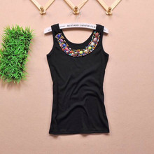 2016 maternity women cotton vests New Arrive Beading O-neck loose Candy solid Color Tank Tops, Camis for pregnant(China (Mainland))