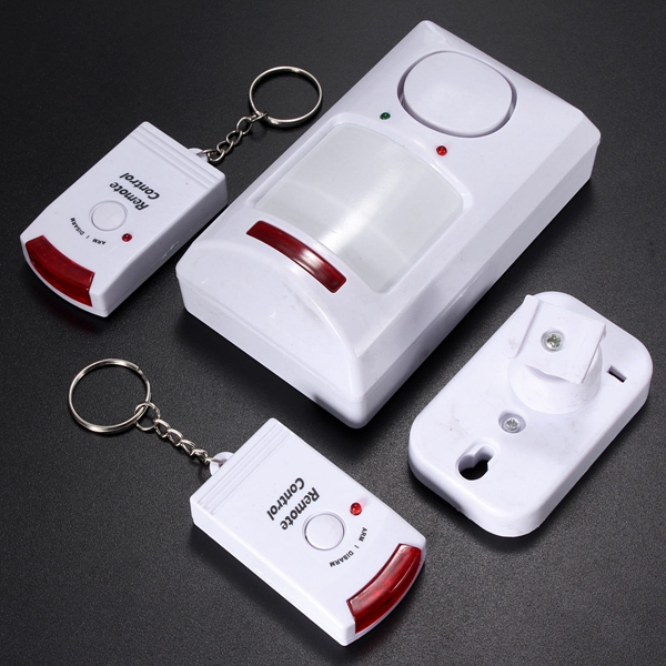 Portable IR Wireless Motion Sensor Detector + 2 Remote Home Security Burglar Alarm System(China (Mainland))