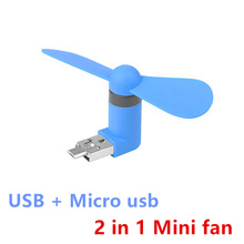 Buy 2 1 Mini Cool Portable Power Bank USB Fan Micro USB fans Gadgets Tester Xiaomi HTX android mobile phone 18650 Powerbank for $1.25 in AliExpress store