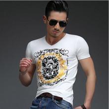 2016 Rilis Terbaru Top Fashion Baru Musim Panas pria T Shirt Pria Merek Tops Lengan Pendek T-shirt Pria Mewah T-shirt pakaian