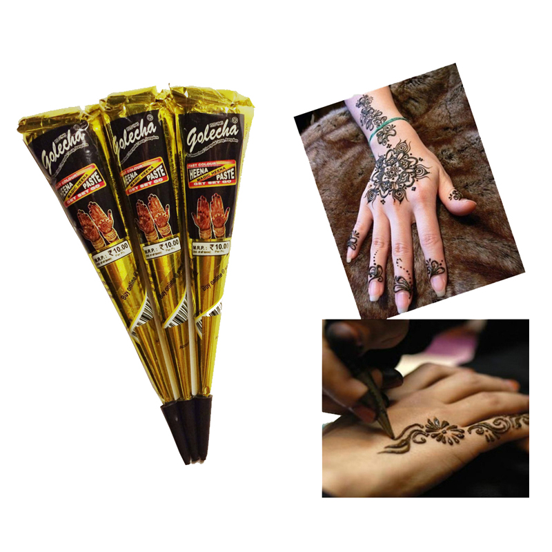 New Arrivals Body Art Paint High Quality Mini Natural Indian Tattoo Henna Paste for Body Drawing Black Henna tattoo Y3(China (Mainland))