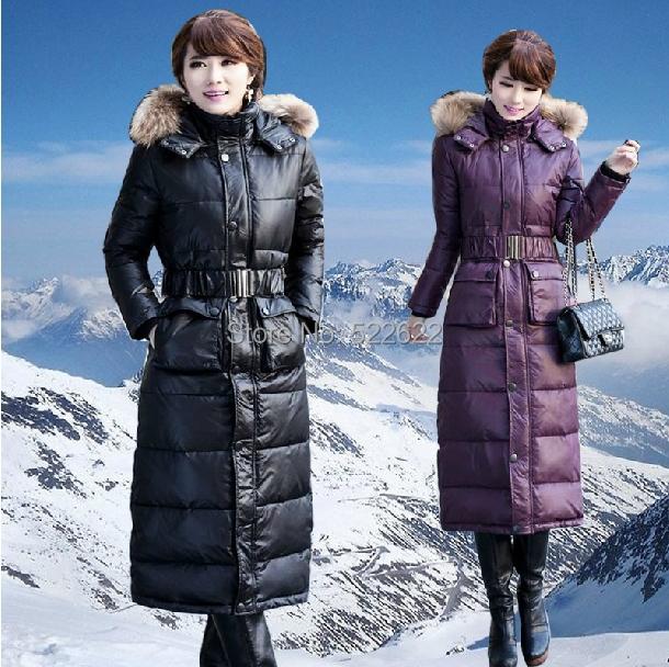 2014 bplus size3XL 4XL thick Large fur collars female /women long jacket winter jackets women & Parkas coat - 5 star store
