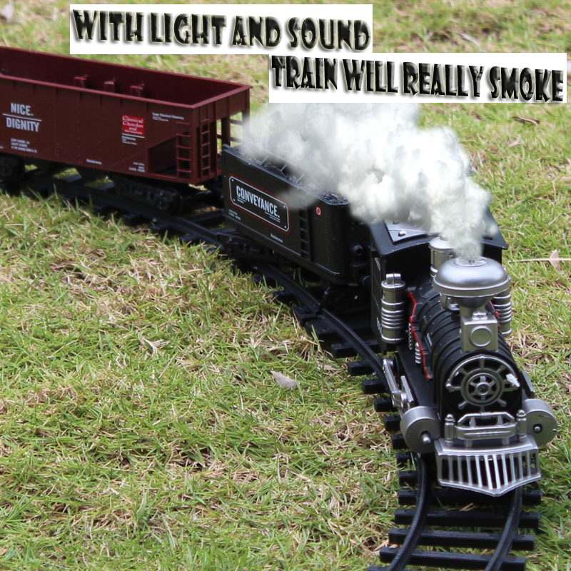 Toy train track electric toy car, with light music fun toy Mini electric train track set for children Free shipping(China (Mainland))