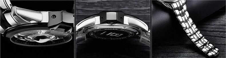 Relogios masculinos 2015 Люксовый Бренд Бингер Часы Мужчины Моды Кварца Бизнес Случайный водонепроницаемый Наручные Часы Полная Сталь Часы