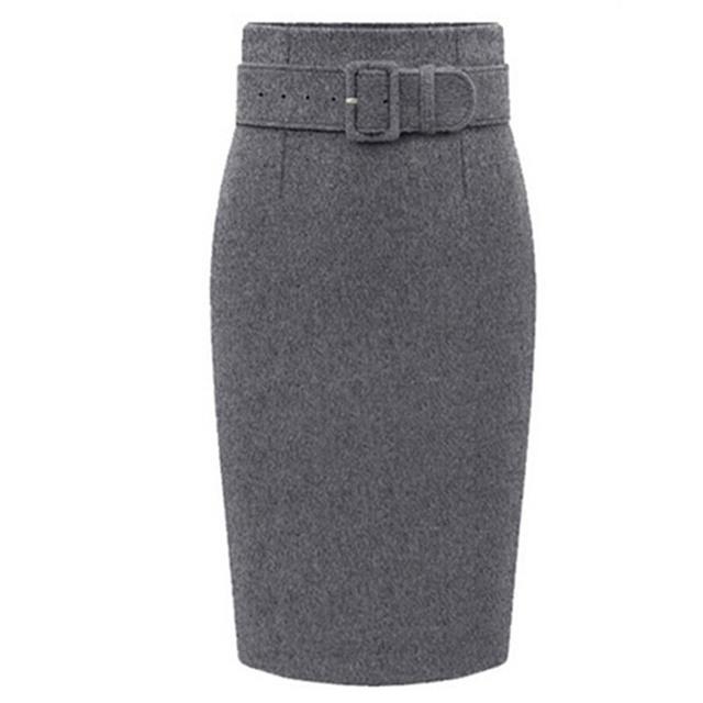Большой размер S-3XL женские юбки 2016 новинка осень зима свободного покроя длиной ...