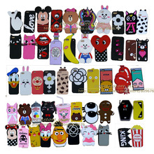 10 3D cartoon soft case iphone 7 6 5 cute silicone back cover 6plus 7plus 5G 5S cases - express store
