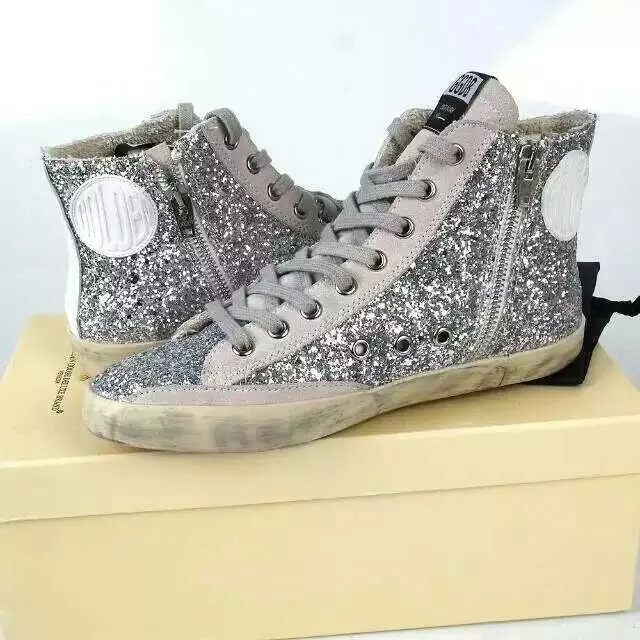 New Original Box Handmade Fashion Golden Goose Women Men Sneakers,Superstar Couple Zip Sequined Cloth GGDB Shoes,Size EUR 35-46<br><br>Aliexpress