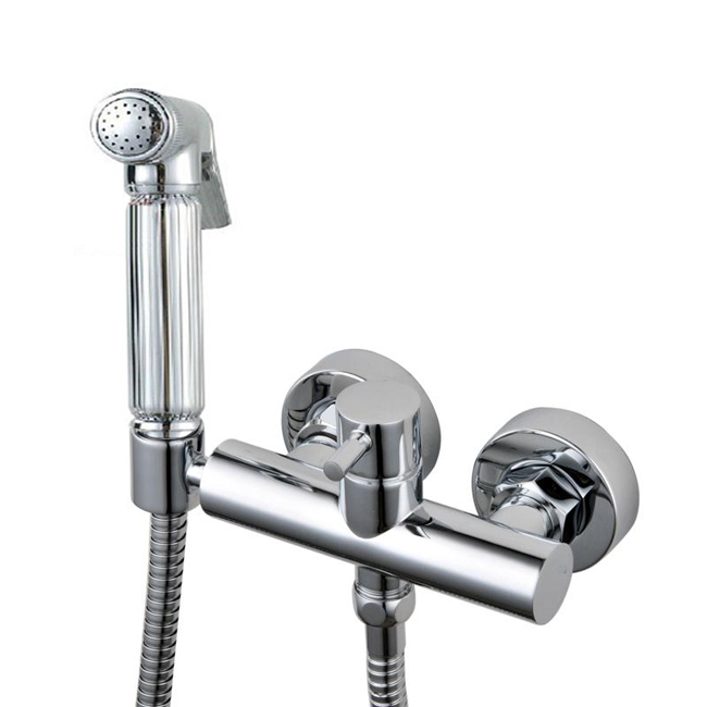 Фотография 2016 Freee shipping Brass Bidet Shattaf Spray Set with Hot and Cold Faucet Body