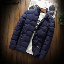 Mountainskin Winter Men Jacket 2019 Men's New Casual Thicken Warm Cotton Jacket Slim Clothes Youth Soild Jacket Men's Wear SA743(China)
