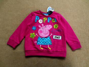 Free shipping Brand newgirl peppa pig pink long sleeved sweater sweatshirts coat tops jumpers 5 pcs/ lot