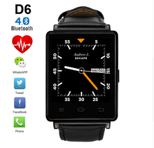 NO.1 D6 1.63 inch 3G Smartwatch Phone Android 5.1 MTK6580 Quad Core 1.3GHz GPS WiFi Bluetooth 4.0 Heart Rate Monitor Smart Watch(China (Mainland))