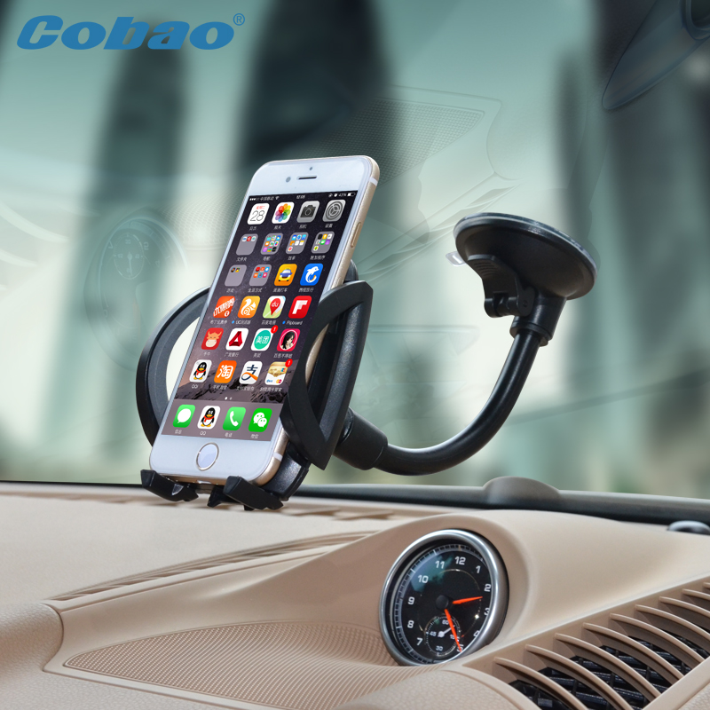 Universal Car Windshield Long Arm Mobile Phone Car Mount Bracket Holder Stand for iPhone 4 4S 5 5S 6 6S Smartphone Cars Holder(China (Mainland))