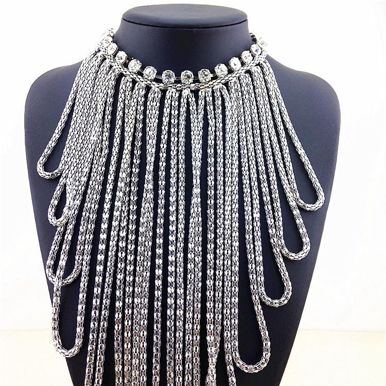Women Jewelry Tassel Statement Necklace Long Bib Choker Fashion Vintage Brand Style Necklaces & Pendants - Left Hand Right Shop store