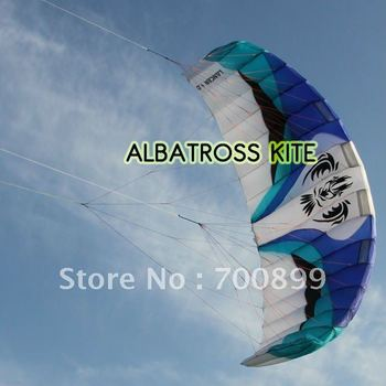 3 line trainer surfing power kite with trainer bar 4.0m2--Free Shipping