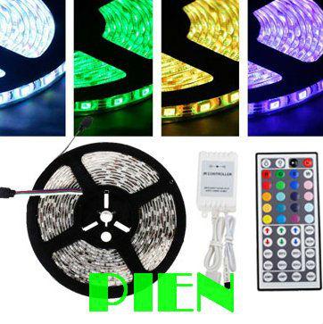 5m 5050 RGB led strip fita de led tape 300 LEDs diode feed tiras lampada non waterproof 12V+44 key rgb controller Free Shipping(China (Mainland))