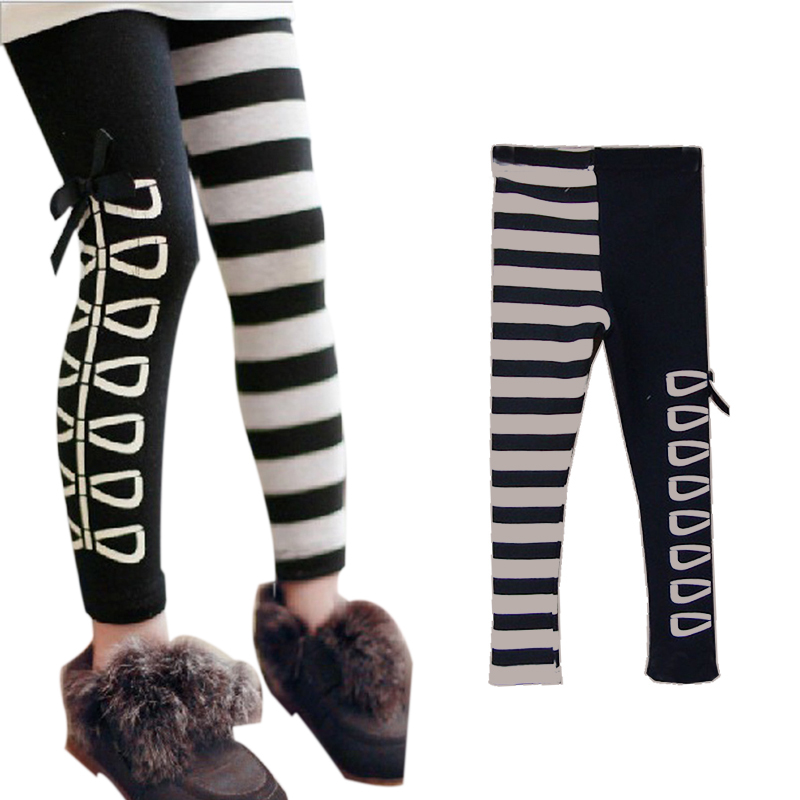 Гаджет  Free Shipping New Kids Clothes Sweet Girls Classical Black And White Design Leggings Ages3-8Y None Детские товары