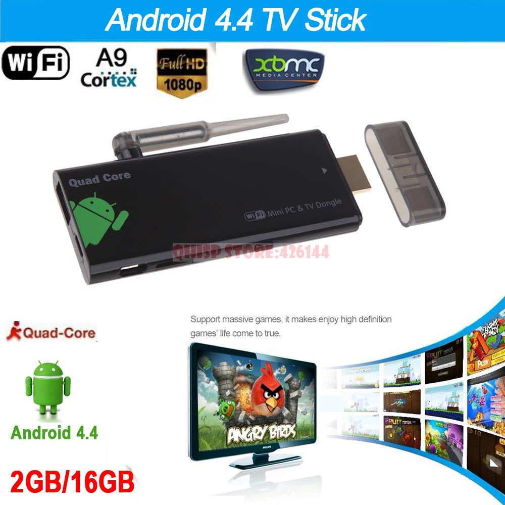 Roku Android 4.4 Tv Stick Quad Core 2g/16g Bluetooth 4.0 1080p With Xbmc Dlan External Wifi Antenna Cx919 Mini Pc Box Dongle(China (Mainland))