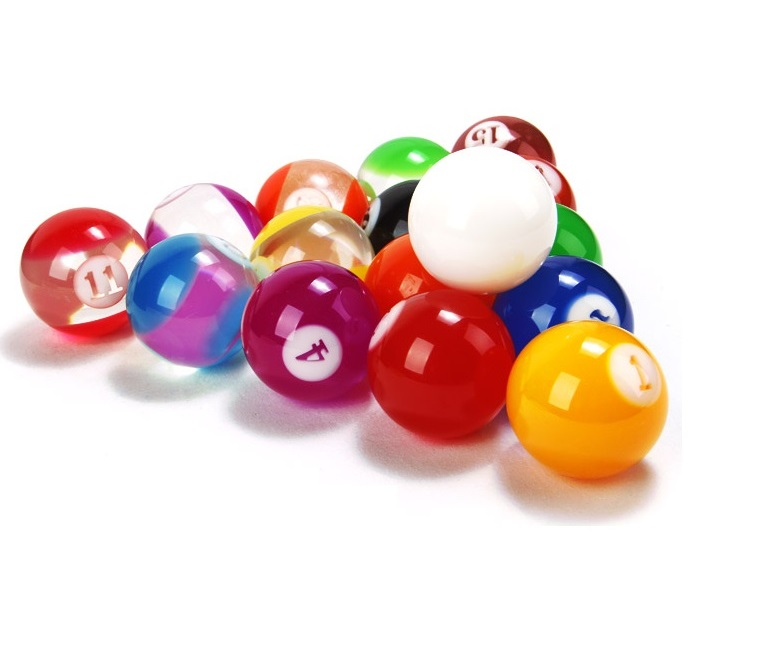 Standard Jelly Crystal Billiard Pool ball 2-1/4inch, Special colors Billiard BALL 57.2mm set 16x(China (Mainland))
