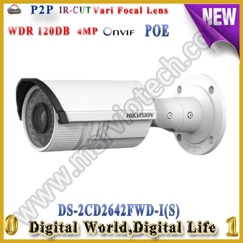 Здесь можно купить  DHL Free shipping Hikvision ds-2cd2642fwd-is camera ip66 waterproof 2.8-12mm varifocal lens new 4mp wdr 120db camera DHL Free shipping Hikvision ds-2cd2642fwd-is camera ip66 waterproof 2.8-12mm varifocal lens new 4mp wdr 120db camera Безопасность и защита