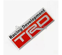 (30 pieces/lot ) 3D Aluminum Metal TRD Racing Development Badge Emblem Sticker For TOYOTA