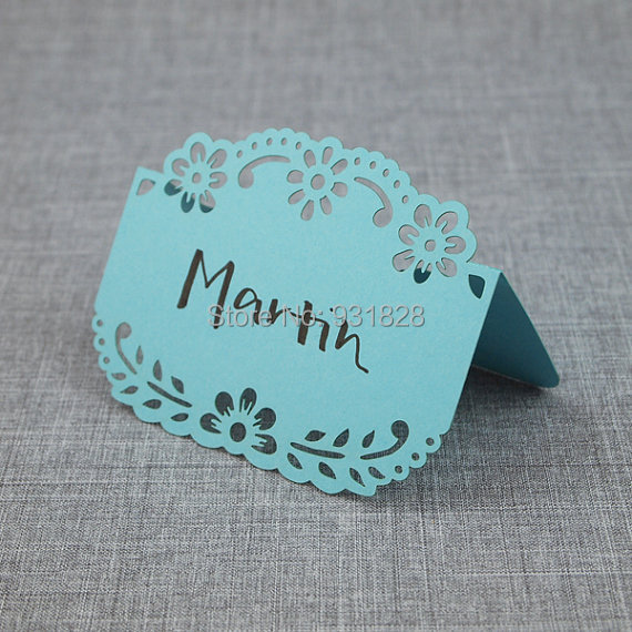Baby Shower Seating: Papel Picado Place Card For Weddings Events Ocean Wedding