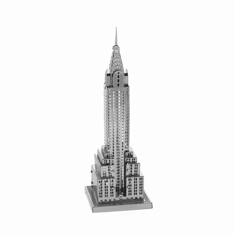 3D DIY Metal Puzzle Assembled Chrysler Building World's Famous Building Landmark Model Jigsaws Best For Education(China (Mainland))