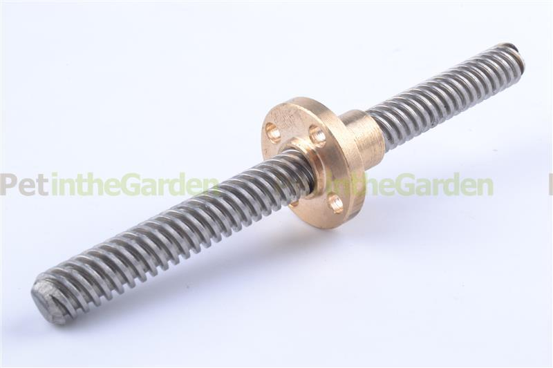3D Printer 8mm Lead Screw Rod 100mm Brass Nut 4 Start Z Axis Linear Rail Shaft(China (Mainland))