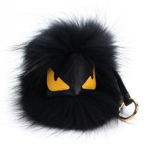 Real Fur Monster Pom Pom Fur Balls Doll Ball Key Ring Key Chain Bag Car Charm Fur Pom Pom Keychain with no Logo(China (Mainland))