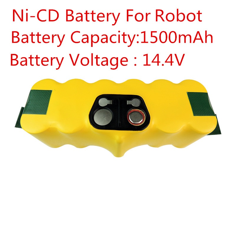 New 14.4V Ni-CD 1500mAh Replacement Battery Packs for iRobot Roomba 500 620 700 Series 80501 530 510 780 770 760(China (Mainland))