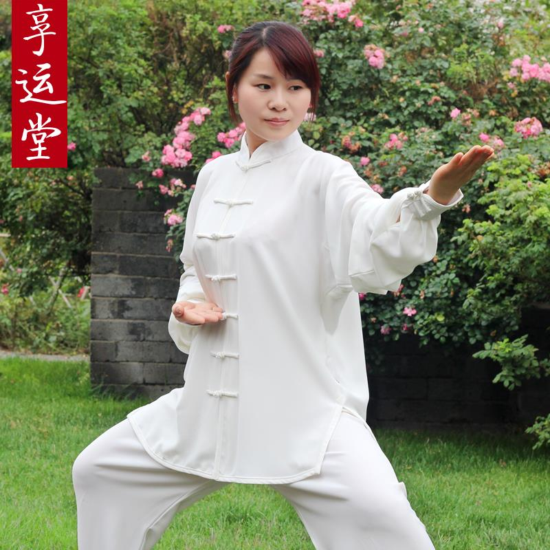 Фотография  clothing in the spring and autumn winter in old people doing morning exercises martial arts uniforms for men and women