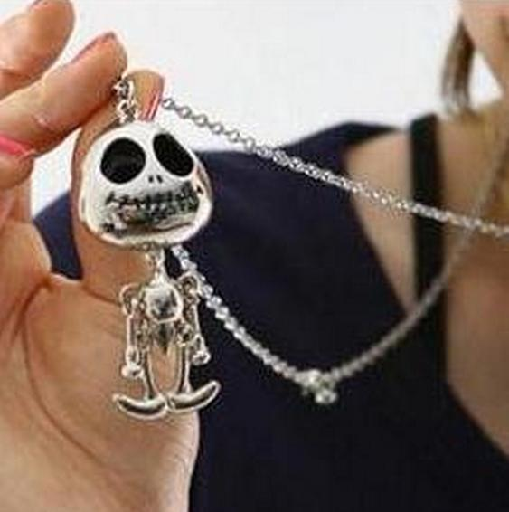 N020 Punk gothic Vintage Retro Skeleton Skull Skeleton Charm Pendant Necklace Fashion Jewelry wholesale charms female(China (Mainland))