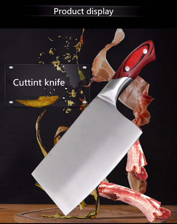 Buy Free Shipping LD 5Cr13 Stainless Steel Knife Chop Bone Cut Meat Vegetable Dual-purpose Kitchen Knife Cleaver Slicing Knife cheap