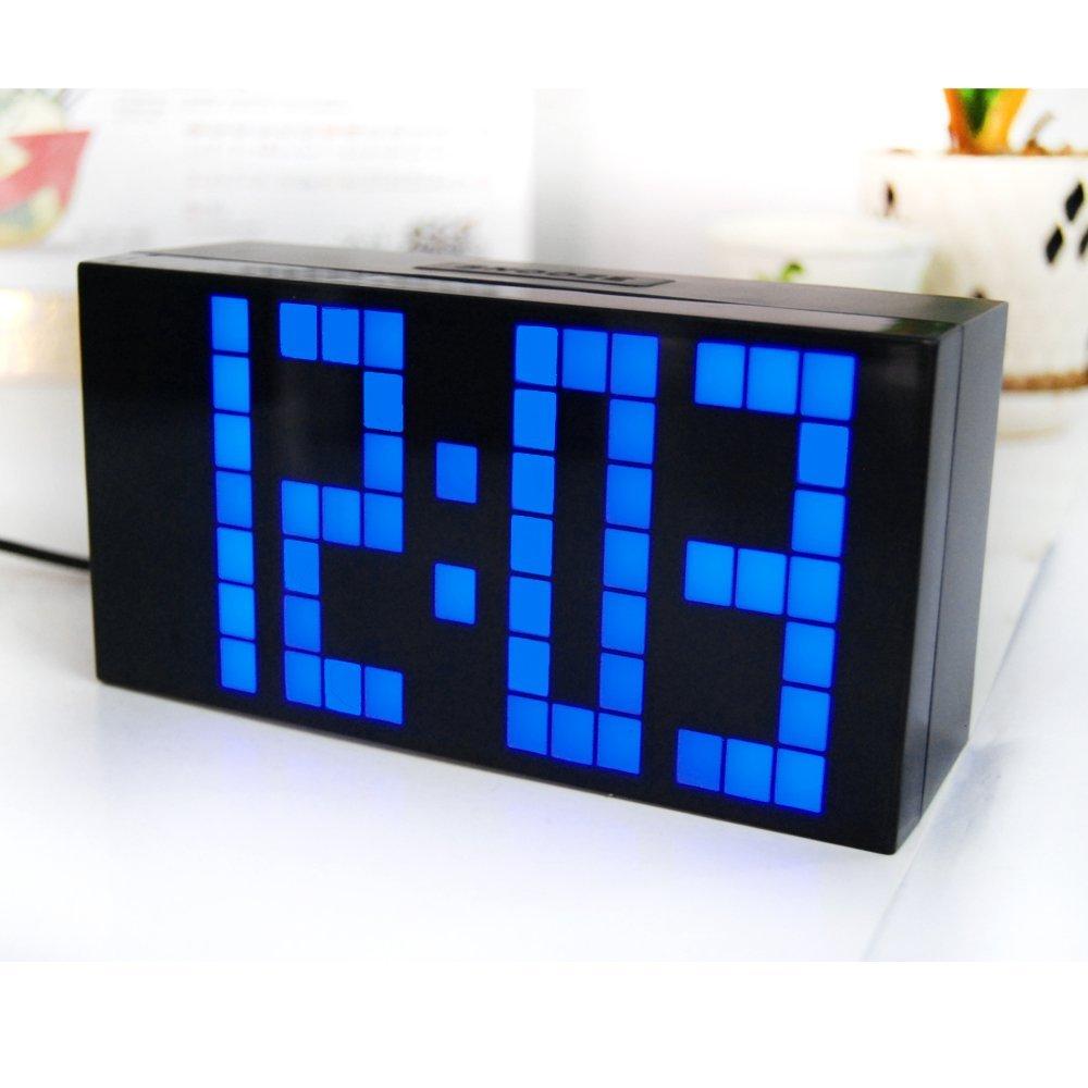 Digital Large Big Jumbo LED Alarm Clock Snooze Wall/Desk Calendar Weather