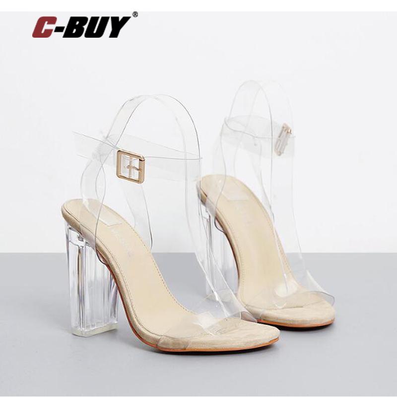 Sandals Women 2017 Summer Design Crystal High Heel Transparent Women High Heels Wedding Pumps z75(China (Mainland))
