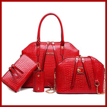 Кожа женщины кроссбоди наплечная сумка сумки + сумка-мессенджер + портмоне + бумажник 4 комплект bolsas femininas 9 цветов 168 — 6