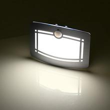 Bewegungssensor Aktiviert LED Wandleuchte Batteriebetriebene Drahtlose Nachtlicht Auto Auf/Off für Flur Pathway Treppe Wand(China (Mainland))