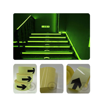 5CM X 5M Glow in the Dark Luminous Tape wiht Arrow Printing for Safety Guiding Free shipping(China (Mainland))
