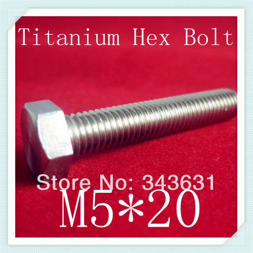 20pcs/lot High Quality DIN933  M5*20 Titanium Hex Bolts<br><br>Aliexpress