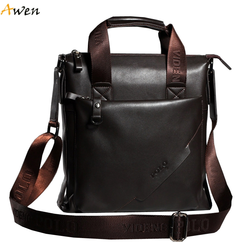 Awen - New Famous Brand Vertical Casual Business Leather Men Handbag,Luxury Italy Design Mens Shoulder Bags Crossbody Travel Bag(China (Mainland))