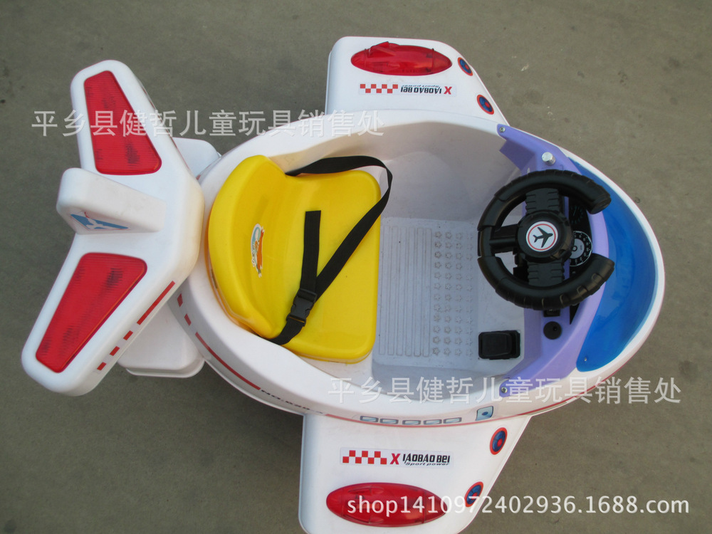 Remote control double-double-drive electric car can take music children light four-wheel electric vehicles aircraft(China (Mainland))