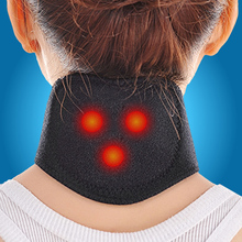 1pc New 2014 Tourmaline Magnetic Therapy Neck Massager Cervical Vertebra Protection Spontaneous Heating Belt Body Massager