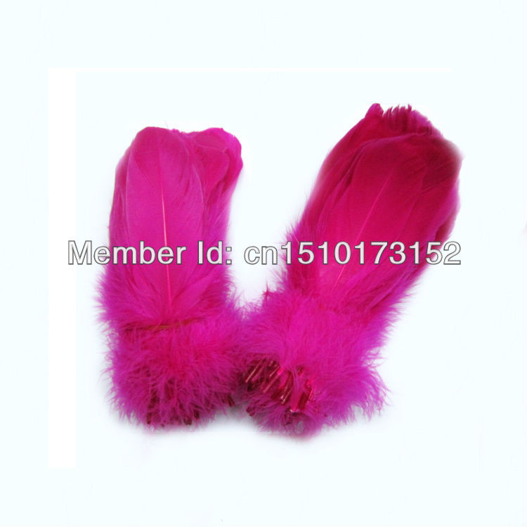 200pcs/ lot Rose Soft Rod Goose feathers 5-7inch/13-18cm Crafts RP-12 - TiTi Feather Market store