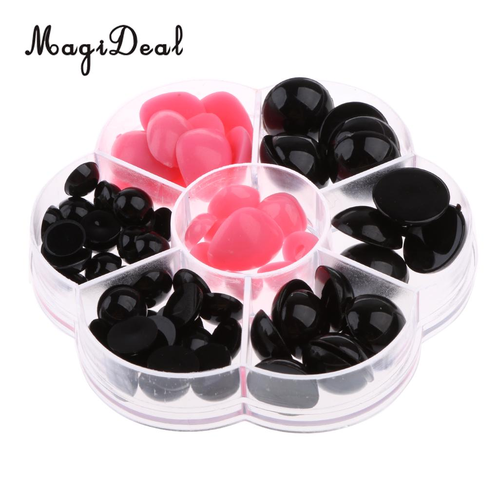 300pcs//set Craft Plastic Doll Eyes Nose Stuffed Toy Accessories For DIY Doll