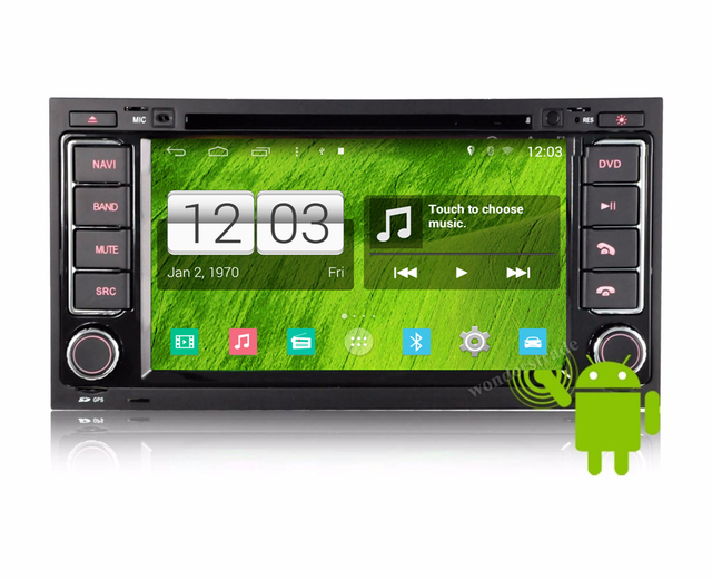 S160 Quad Core Android 4.4  Car DVD Player autoradio GPS Radio Stereo  for Volkswagen Touareg 2003-2009  HD 1024*600 screen