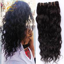 Sunlight Human Hair Brazilian Virgin Hair 4 Bundles Brazilian Water Wave Wet And Wavy Human Hair Weave Curly Hair Extensions(China (Mainland))