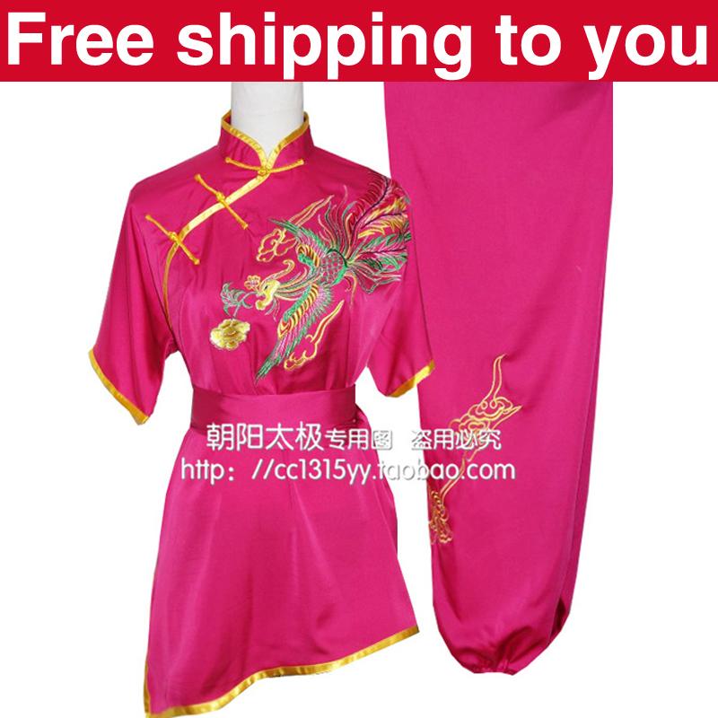 Здесь можно купить  Free shipping Customize Chinese wushu uniform clothing Kung fu suit Martial arts set /women/child/little girl/Phoenix embroidery  Спорт и развлечения